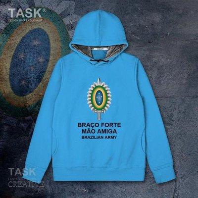 TASK 巴西Brazil國家陸軍加絨連帽衛衣特種兵休閑外套潮
