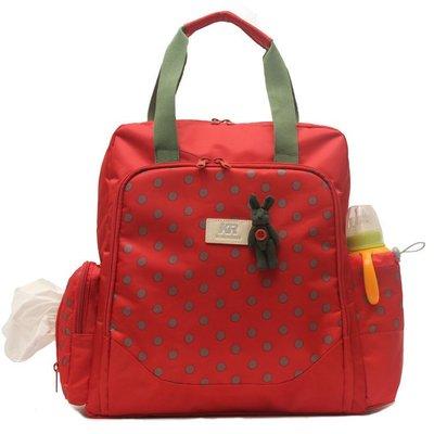 【蘑菇小隊】媽咪包雙肩包 韓版大容量多功能時尚媽媽包單肩手提孕母嬰包外出-MG32270