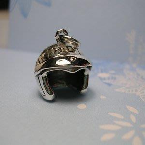 琥珀貓銀飾DIY【925純銀飾品】墜飾~A0035~橄欖球頭盔~一個