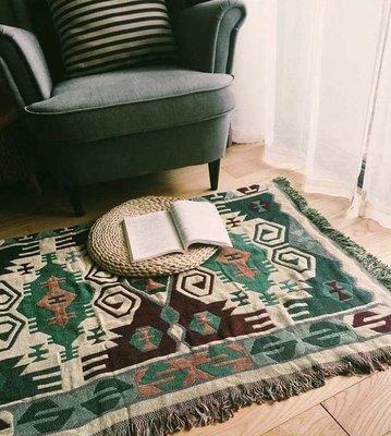 印地安風 地毯 幾何 編織 地墊 墊 毯 雙面 2面 沙發巾 沙發毯 蓋毯 裝飾 毯子 民族風 圖騰