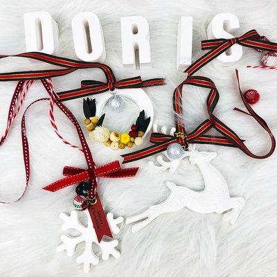 爆款香水圣誕花環擴香石永生花車掛汽車掛件吊墜車內吊飾裝飾掛飾車載香水