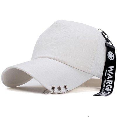 帽子男秋冬天正韓鐵環潮人鴨舌帽女學生百搭太陽棒球帽遮陽帽嘻哈帽