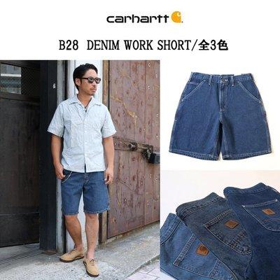 南◇2021 1月 Carhartt B28  Denim Work Short 畫家褲 工裝短褲 牛仔短褲 單寧短褲
