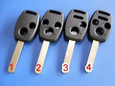 【新大彰化晶片】本田鑰匙外殼HONDA ACCORD CRV2 CRV三代 CIVIC8 FIT晶片鑰匙外殼 彰化縣