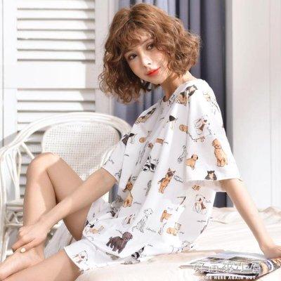 夏季睡衣女套裝短袖兩件套純棉夏天薄款學生寬鬆韓版冰絲大碼胖mm