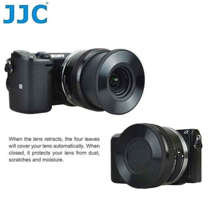 我愛買#JJC索尼Sony副廠E 16-50mm自動蓋f3.5-5.6 PZ OSS自動鏡蓋f/3.5-5.6自動鏡頭前蓋40.5mm自動鏡頭蓋SELP1650