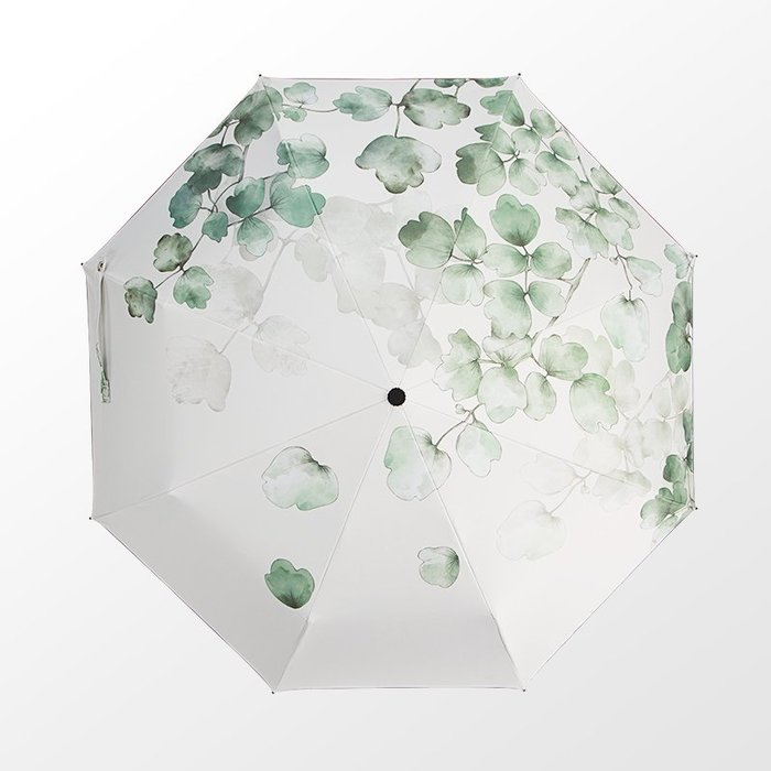 太陽傘遮陽傘防曬防紫外線女雨傘折疊晴雨兩用傘森系復古簡約自動太陽傘