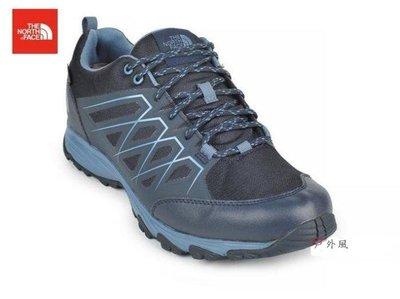~滿3000超取郵寄免運~【戶外風】The North Face 男 GORE-TEX 防水透氣徒步鞋 都會藍