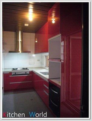 ❤ 廚房世界 實體店面 ❤ 高雄 廚房歐化系統廚具 L型上下櫥流理台 LG台面