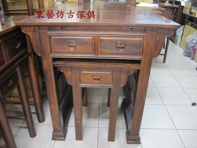 東藝仿古傢俱~~106(三尺半)方腳整套供桌/佛桌/神桌106*60*108公分