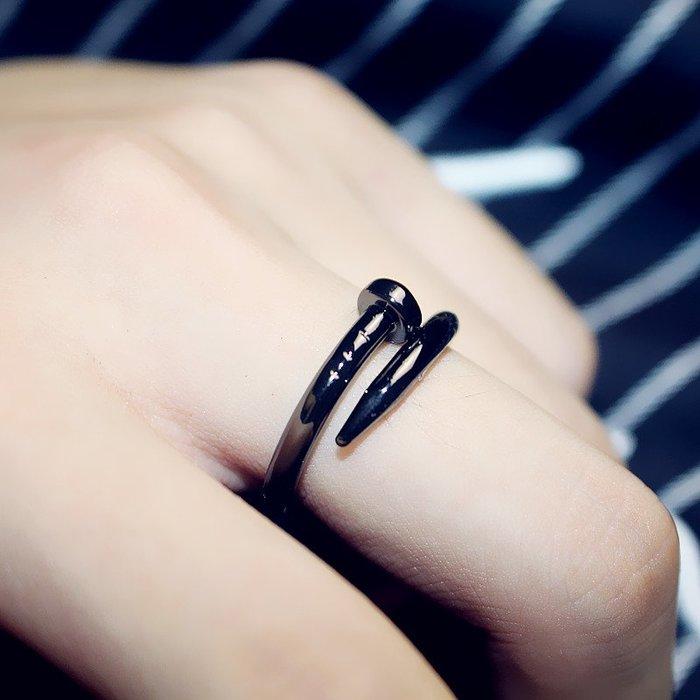 乾一韓國時尚顯氣質鈦鋼釘子戒指日韓個性潮人飾品男生女士情侶指環