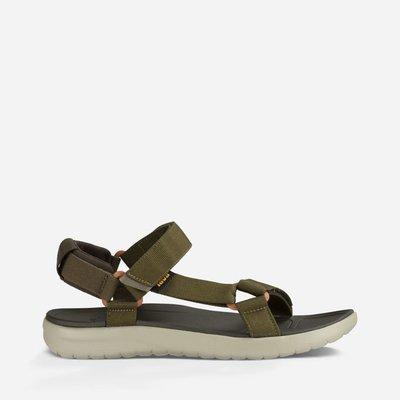 WaShiDa【SANBORN】TEVA 美國品牌 夏日 運動 經典 多點式 調整 織帶 水陸 涼鞋 軍綠