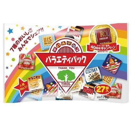 +東瀛go+ TIROL 松尾 綜合巧克力 27入 松尾巧克力 BIS 夾心巧克力 代脂巧克力 日本進口 餅乾巧克力