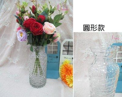 ☆[Hankaro]☆創意流行編織紋圓形玻璃花瓶(樣品出清)