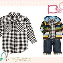 【B& G童裝】正品美國進口GYMBOREE黑白格子法蘭絨長袖襯衫3yrs