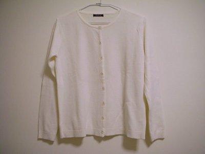 全新出清款百搭溫暖厚實圓領可開釦兩穿式珍珠白色女長袖毛衣外套