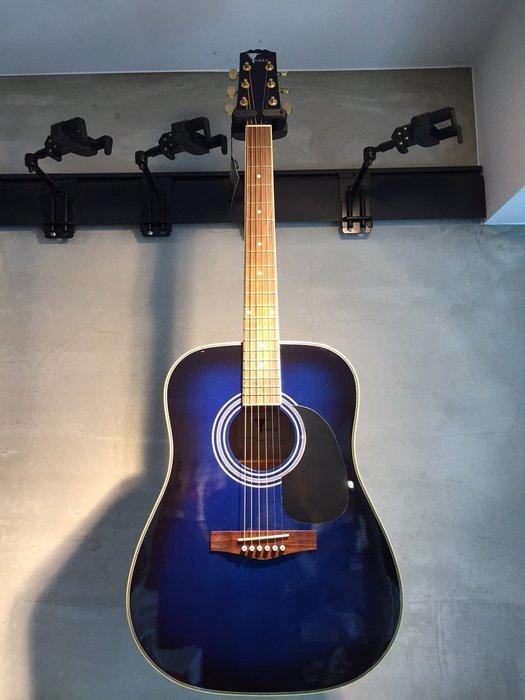 【六絃樂器】全新 Hofma 漸層藍色民謠吉他 41吋傳統造型 / 附配件