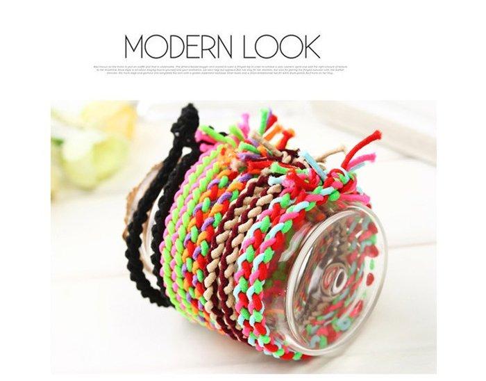 手工打結高彈力髮圈【ZT0018】超好用韓國髮飾,還可當手環❖365創意生活❖現貨