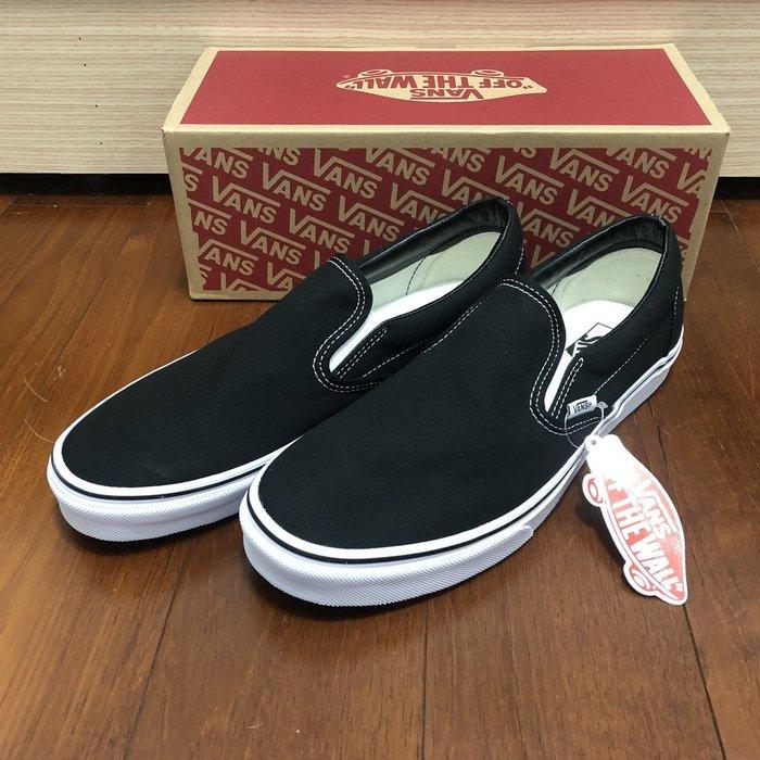 CHIEF' VANS 美版 CLASSIC SLIP-ON 黑色 帆布 懶人鞋 基本款 US4~12 男女