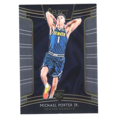 (RC) Michael Porter Jr. / Select Concourse Rookie Base系列新人RC金屬卡 2018-19