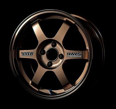 日本 Volk Racing Rays 鍛造 鋁圈 TE37 古銅 14吋 100 四孔 4/100