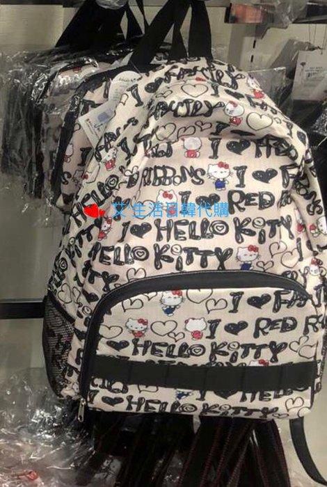 代購現貨  日本限定三麗鷗HELLO KITTY摺疊收納後背包