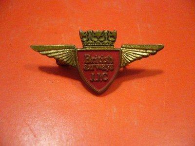 航空公司紀念品-古董英國航空公司British AirwaysJJC職員襟章(pin)