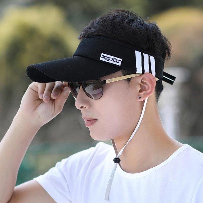帽子 遮陽帽 帽子男韓版太陽帽空頂帽男士棒球帽無頂遮陽帽防曬運動鴨舌帽