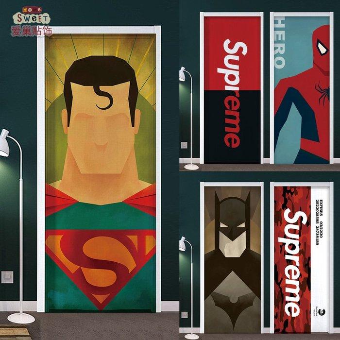 冰箱貼 冰箱裝飾 潮牌漫威門貼紙整張木門翻新自粘臥室個性創意房間北歐裝飾畫宿舍
