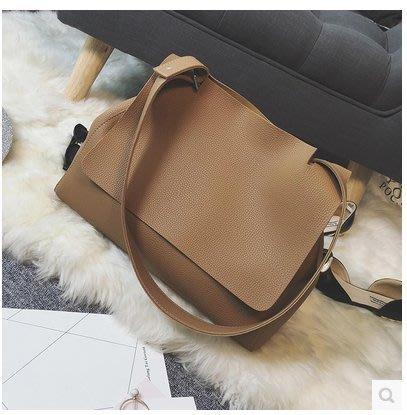 東大門最新熱賣款韓版休閒包包簡約時尚經典大氣氣質美包肩背手提包(大款)