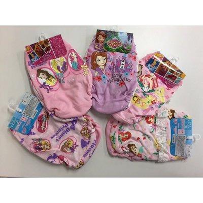 現貨 日本 Disney 100% 純棉女童 內褲 小褲 120-130CM( 2枚/組) 公主們/美人魚/蘇菲公主