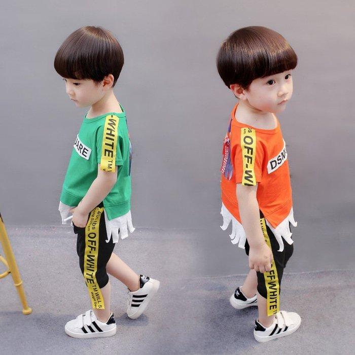 童裝  夏季新品 男 女寶寶  兒童 套裝2件套 寶寶休閑套裝