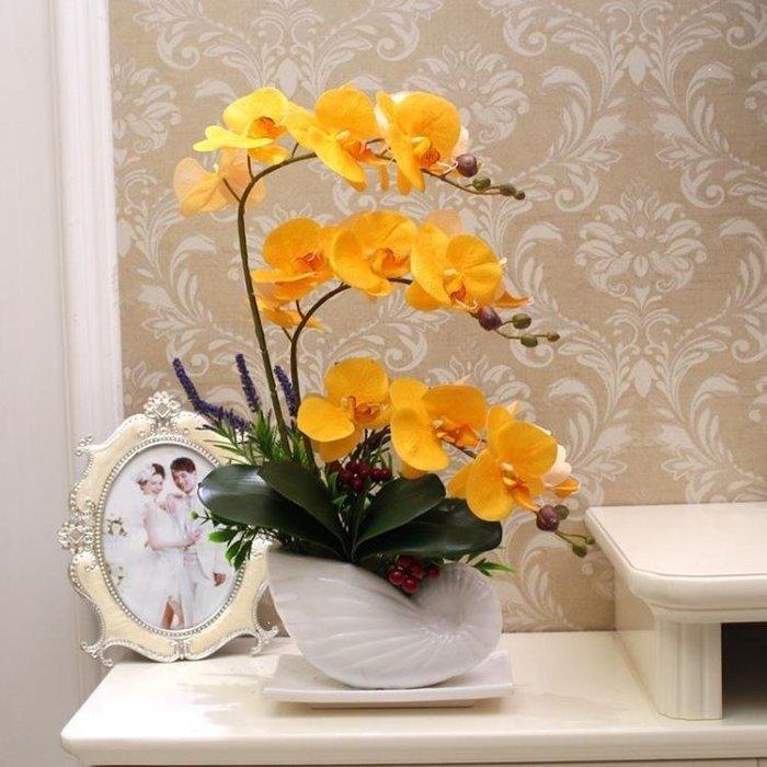 麥麥部落 仿真花蝴蝶蘭套裝假花擺件裝飾品盆栽擺設MB9D8