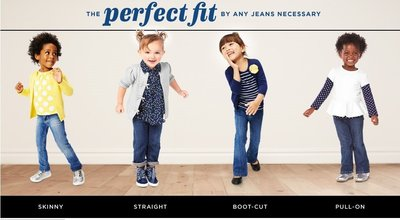 LoRi mom蘿莉媽咪】OLD NAVY Boot-Cut Jeans for Baby牛仔褲4歲小女童300元