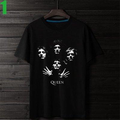 QUEEN【皇后合唱團】短袖搖滾樂團T恤(男生版.女生版皆有) 新款上市購買多件多優惠!【賣場一】
