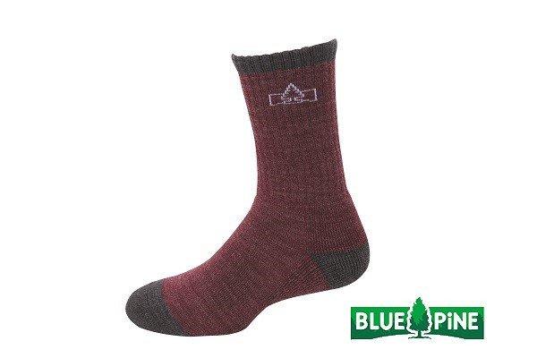 (登山屋) BLUE PINE 美麗諾羊毛襪 型號:B61720 酒紅