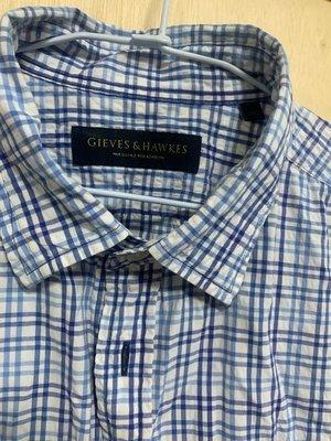 Gives&hawkes 短袖 格紋 襯衫 XL