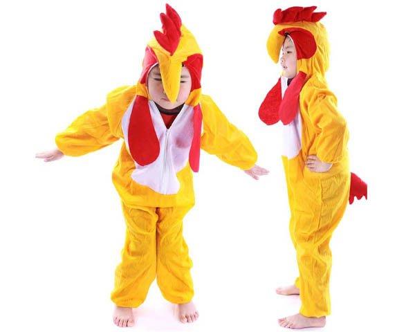 5Cgo【鴿樓】會員有優惠 18229805467 兒童表演服裝 演出服裝卡通動物套裝 動物衣服 大公雞服裝