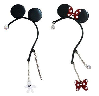 【卡漫迷】 米奇 耳鈎 飾品 ㊣版 左...