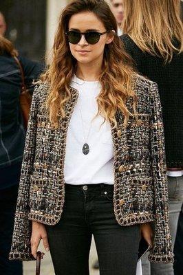 Chanel ❤️ 明星款 編織 羅馬外套 34 - Miroslava Duma