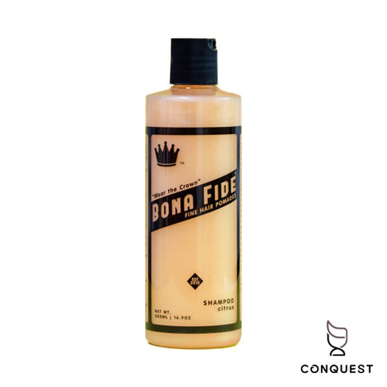 【 CONQUEST 】美國 Bona Fide Citrus Shampoo 500ml 洗髮精 品牌經典清新柑橘香味