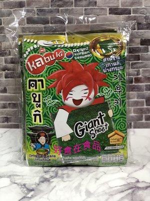 好食在食品~味覺百撰|kabuki 好大片鮮脆脆海苔(原味、辣味) 60g*6包 【KABUKI】泰國知名休閒零嘴品牌