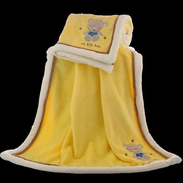 75*100公分珊瑚絨兒童小毛毯加厚單人薄法蘭絨空調毯午睡毯多色
