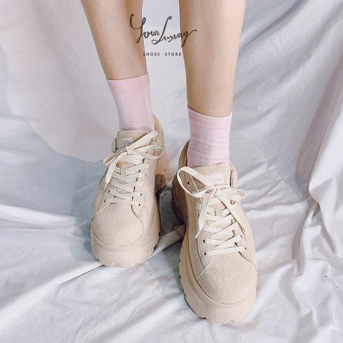 【Luxury】現貨 PUMA Suede Classic x Buffalo 厚底休閒鞋 超厚底 麂皮 女鞋 韓國代購