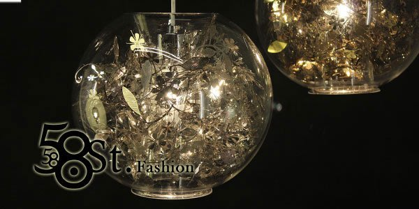 【58街】設計師款式「維多利亞花園吊燈,金、銀款」複刻版。GH-287