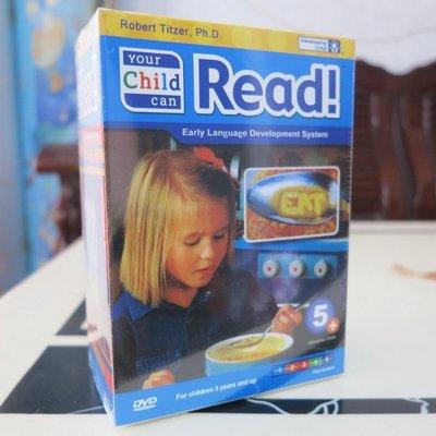 【優品音像】 純英文原版your child can read5DVD嬰幼兒寶寶早教啟蒙 閱讀英語 精美盒裝