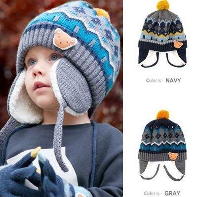 『※妳好,可愛※』韓國童鞋  韓國 winghouse 小熊款帽子 兒童帽子 護耳帽  韓國帽子 保暖商品(2色)