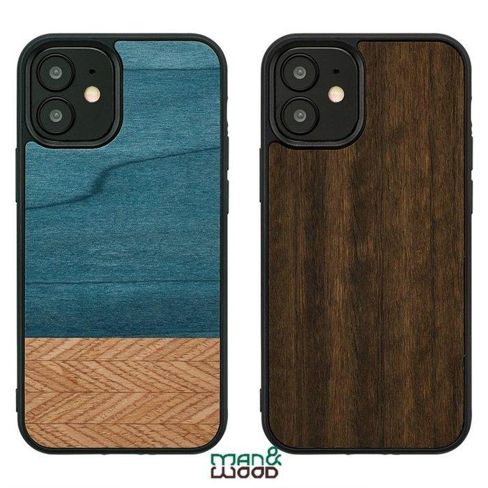 Man&Wood iPhone 12 mini / Pro Max 經典原木 造型保護殼 喵之隅