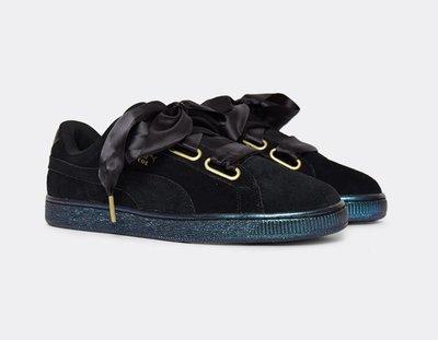(預購商品) Puma Suede Heart Satin Black 362714-03 黑色 麂皮 緞帶 運動鞋