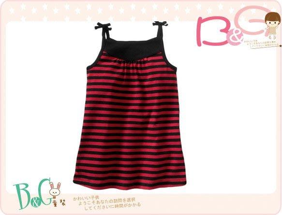 【B& G童裝】正品美國進口GAP紅色條紋背心裙18-24mos